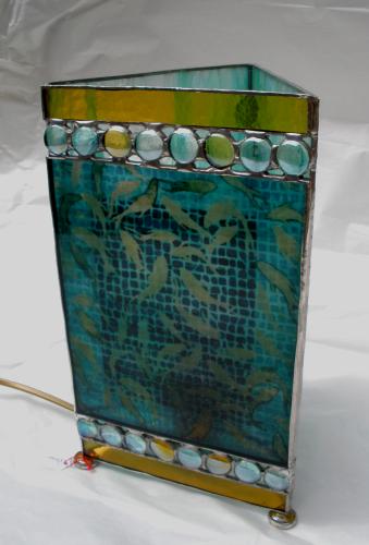 "Lampe ""Poisson"" - Vitrail Tiffany"