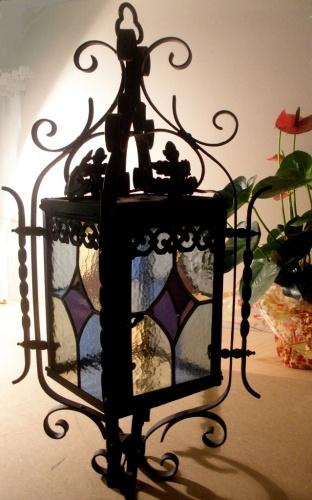 Lanterne - Vitrail au plomb