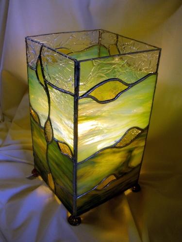 """Lampe """"Océane"""" en Vitrail Tiffany"""