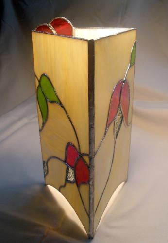 """Lampe """"Romantique - Vitrail Tiffany"""