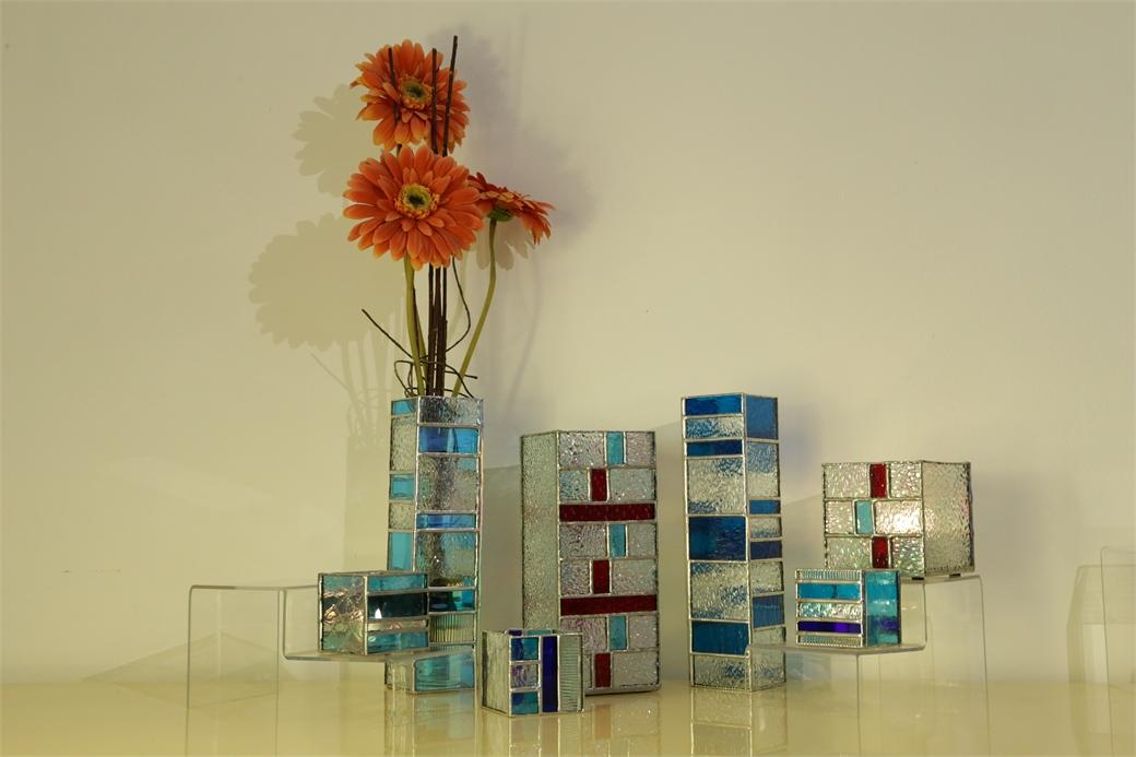 "Soliflores en vitrail ""Tiffany"""