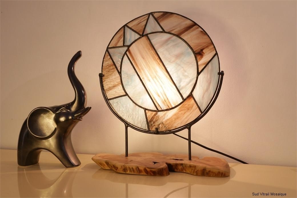 """Lampe en vitrail """"Tiffany"""""""