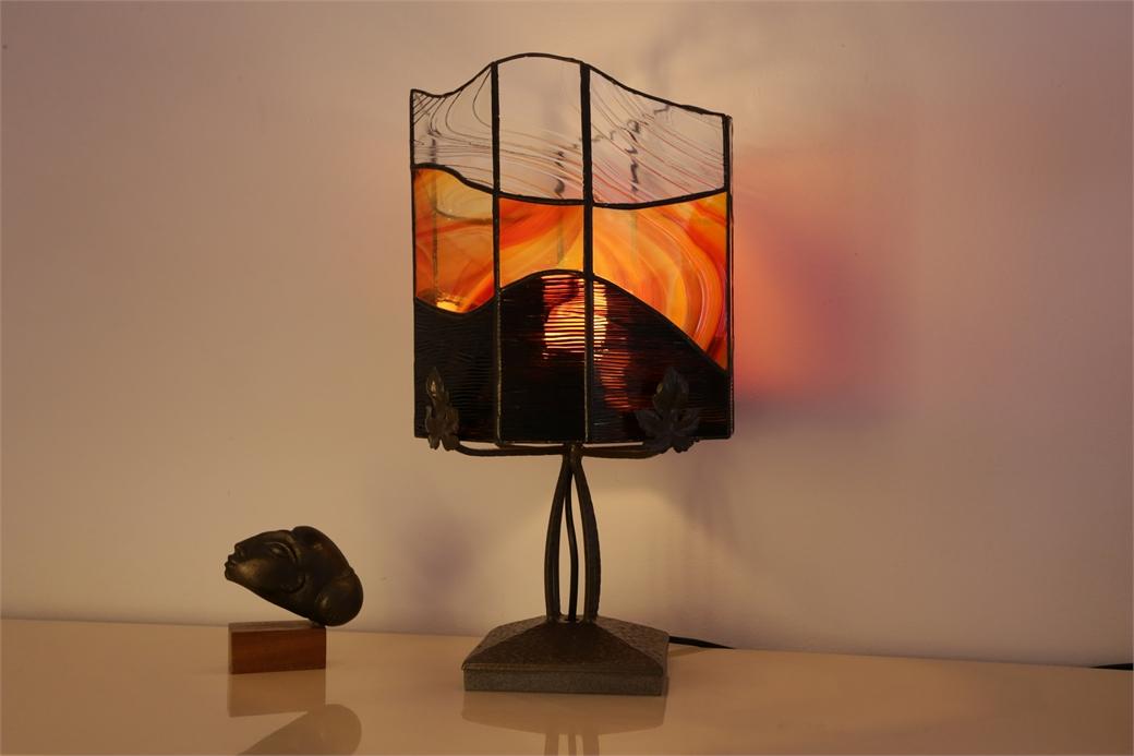 """Lampe en vitrail """"Tiffany"""" - Art Déco"""