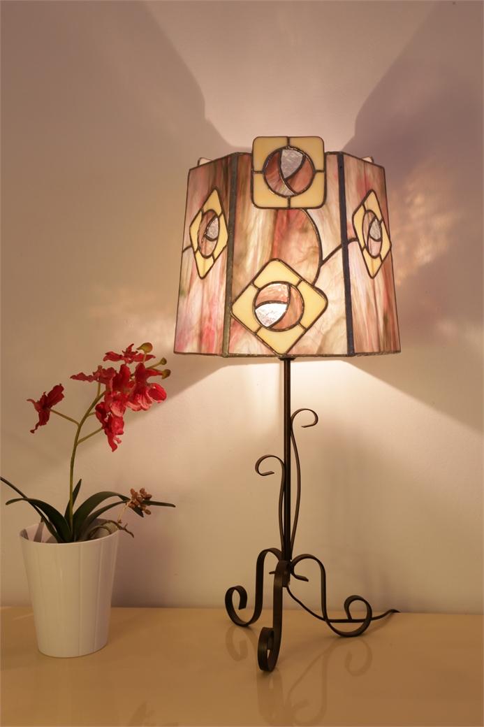 "Lampe en vitrail ""Tiffany"" - Art Nouveau"