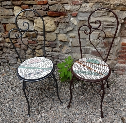 Chaises Rose-Marron