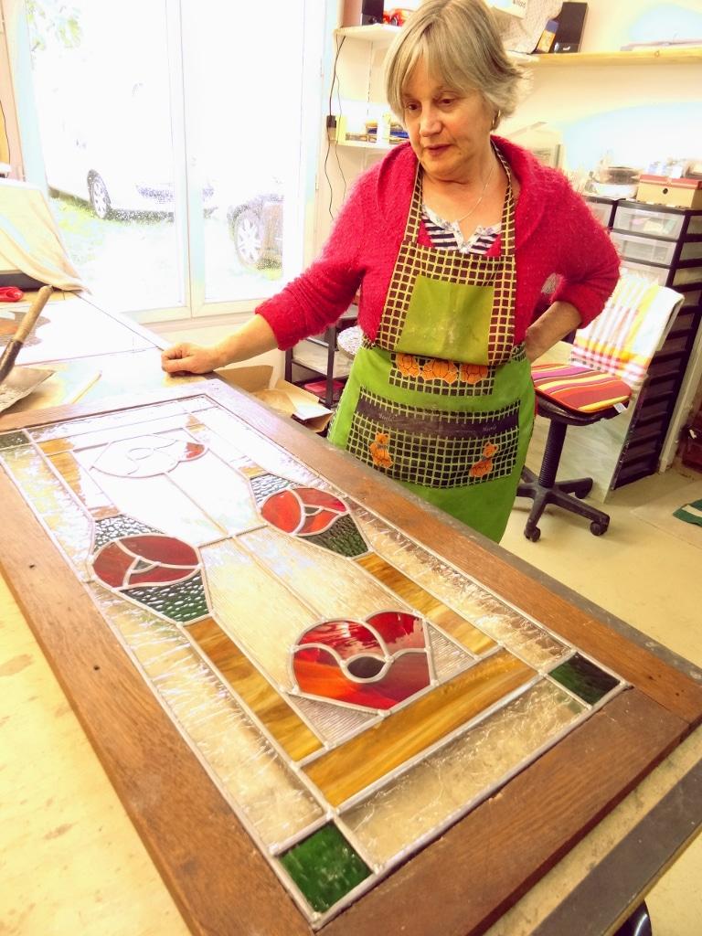 Atelier Sud Vitrail Mosaïque : Masticage
