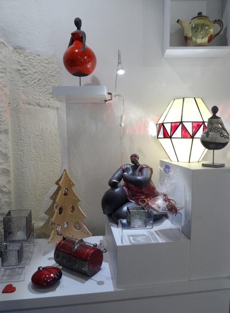 Vitrine boutique/atelier Sud Vitrail Mosaïque