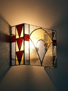 """Applique en vitrail """"Tiffany"""" Art déco - Sud Vitrail Mosaïque"""