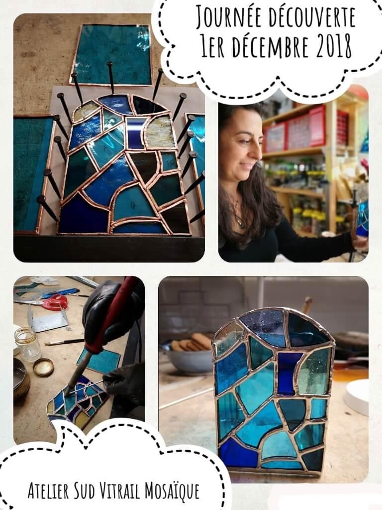 Formation en Journée découverte du vitrail tiffany à l'atelier Sud Vitrail Mosaïque