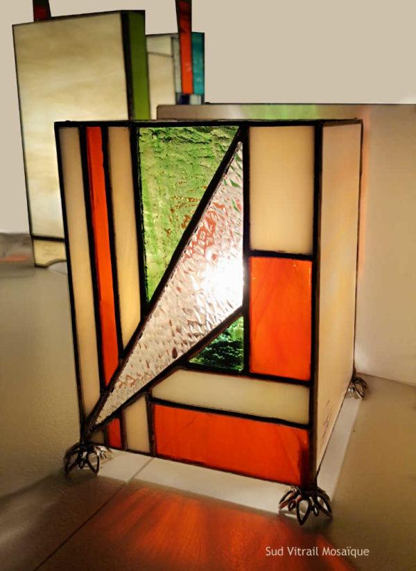 """Lampe en Vitrail """"Tiffany"""" - Art déco - Sudvitrailmosaique"""
