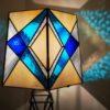 Abat-jour de la lampe Tour Eiffel en vitrail Tiffany - Sud Vitrail Mosaique