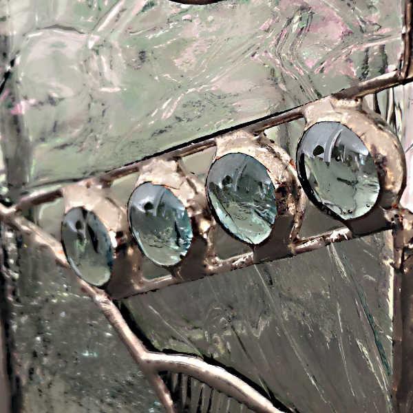 Cache-vase en vitrail tiffany - détail - Sud Vitrail Mosaique