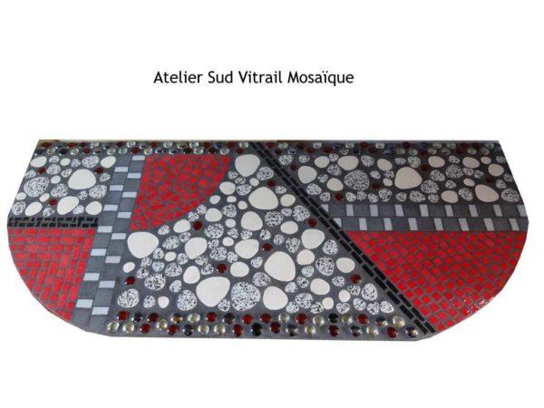 Plateau de console Art déco en mosaïque - Sud Vitrail Mosaique