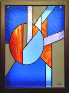 Tableau lumineux en Vitrail Tiffany - Contemporain - Sud Vitrail Mosaïque