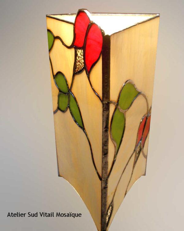 Lampe Romantique en vitrail tiffany - Sud Vitrail Mosaique