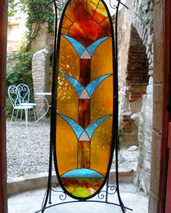 Vitrail au Plomb - Arbre de Vie - Création Sud Vitrail Mosaique