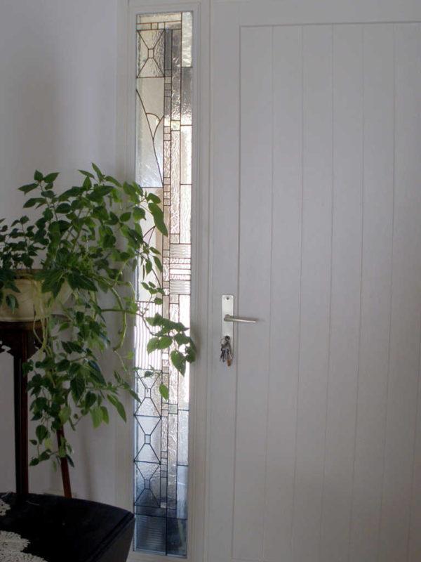 Vitrail tiffany Art Déco avec des verres structurés transparents - Sud Vitrail Mosaique