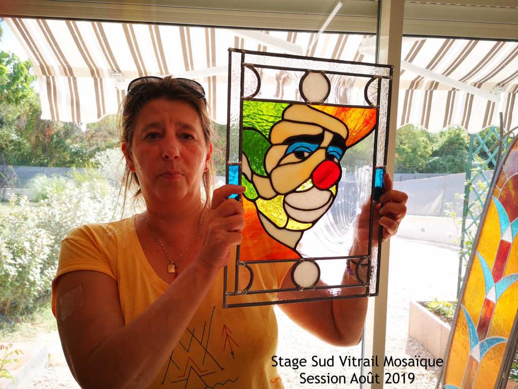 "Stage vitrail ""Tiffany"" et plomb-Août2019-Sudvitrailmosaique"