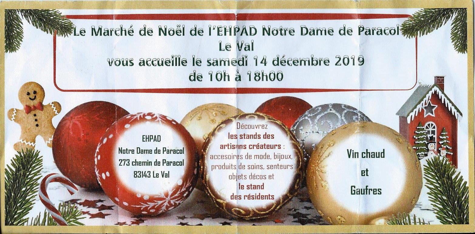 Marché de Noël 2019 à Notre de Dame de Paracol (Le Val) - Sud Vitrail Mosaïque