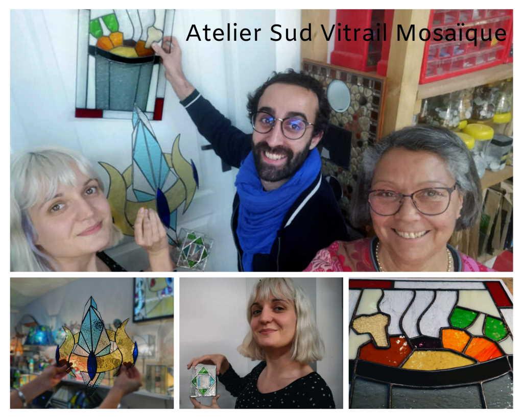 Stage Vitrail tiffany - Session Décembre 2019 à Atelier Sud Vitrail Mosaïque