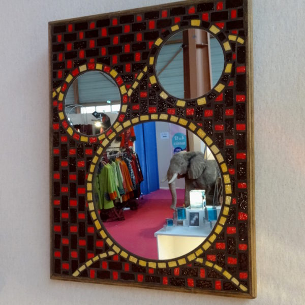 Miroir mosaïque Hibou – Emaux de Briare