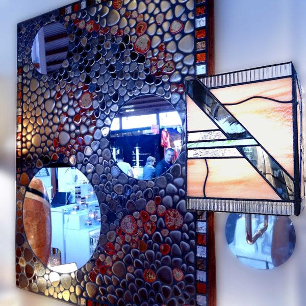 Lampe en Vitrail Tiffany Art Déco – Applique murale