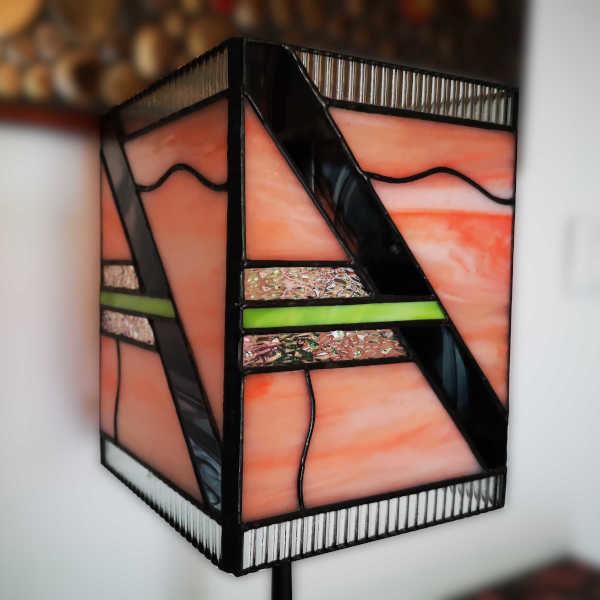 Lampe en Vitrail Tiffany Art Déco
