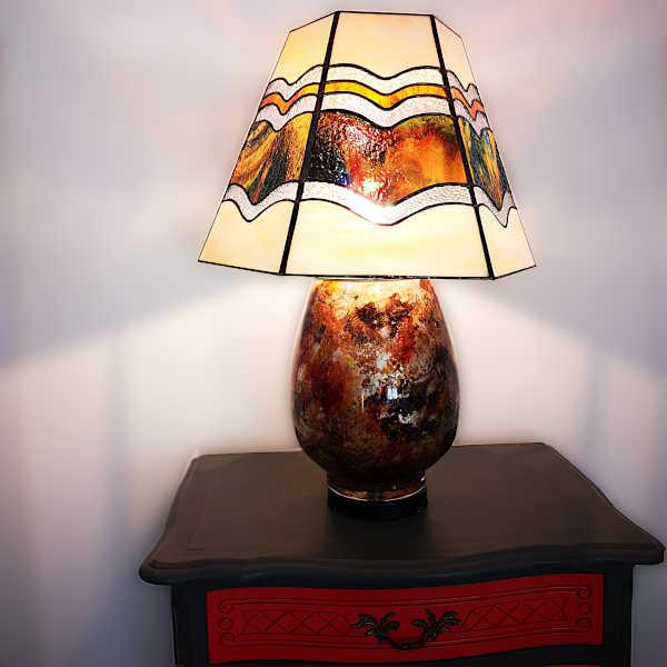Luminaire en vitrail tiffany - Sud Vitrail Mosaique