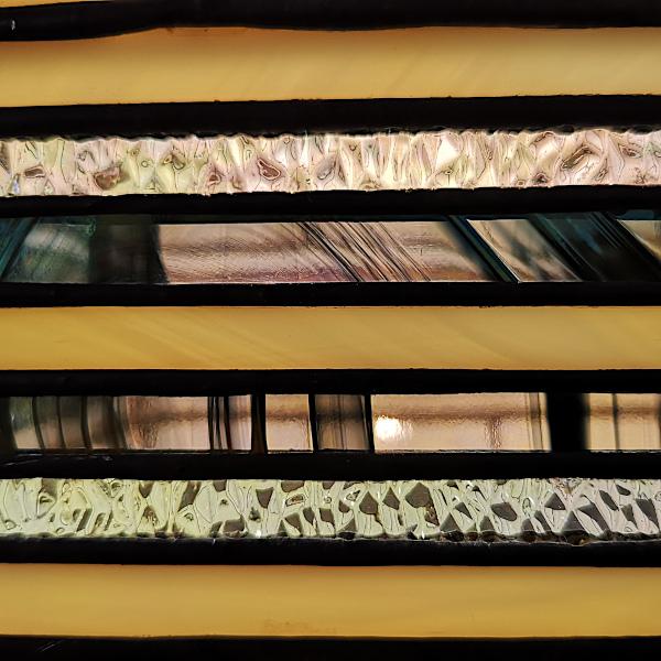 Suspension Vitrail Tiffany Art Déco - Détail - Sud Vitrail Mosaique