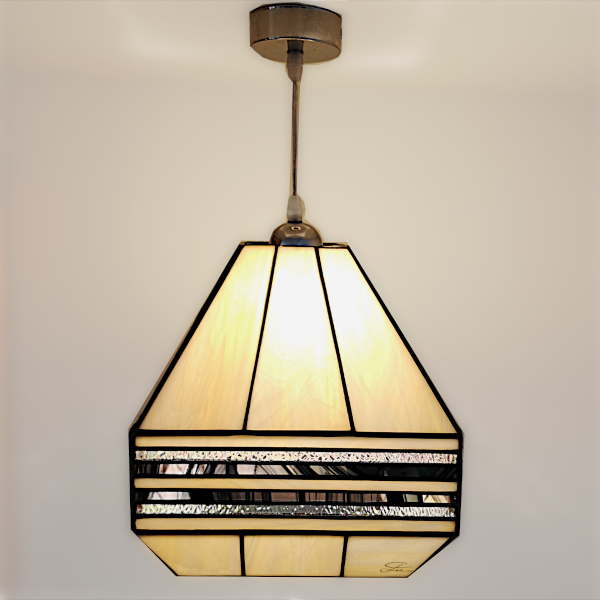 Suspension Vitrail Tiffany Art Déco - GM - Sud Vitrail Mosaïque