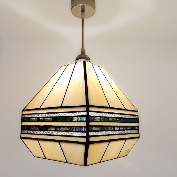 Suspension en Vitrail Tiffany Art Déco - Sud Vitrail Mosaique