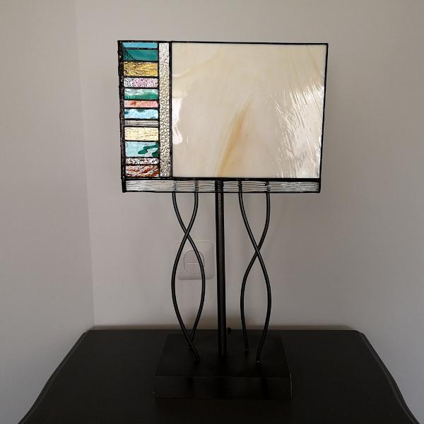 Lampe en Vitrail Tiffany Multicolore - Atelier Sud Vitrail Mosaïque