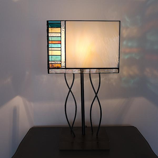 Lampe en Vitrail Tiffany - Sud Vitrail Mosaïque