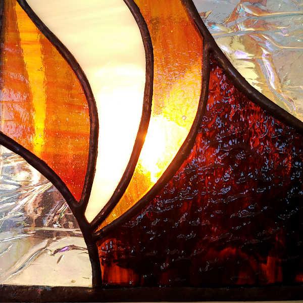 Lampe Vitrail Tiffany - Détail - Sud Vitrail Mosaique