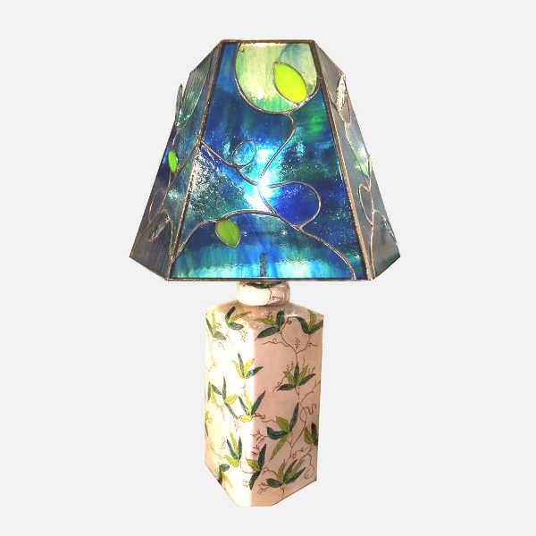 Lampe vitrail Tiffany - Chine Atelier Sud Vitrail Mosaïque