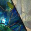 Détail de la Lampe vitrail Tiffany Chine - Sud Vitrail Mosaïque