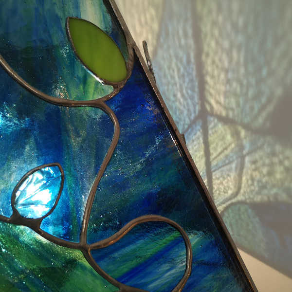 Lampe Chine en Vitrail Tiffany