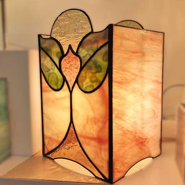 Lampe vitrail tiffany Art Nouveau - Sud Vitrail Mosaique
